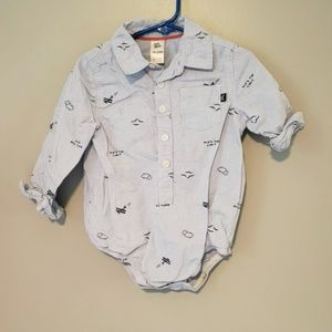 18-24m button down onesies BUNDLE TO SAVE